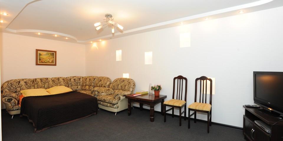 Квартира №10. Гостинная-спальня. Тип квартиры - ЛЮКС. Этаж 3