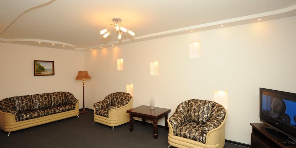 Квартира №13. Гостинная. Тип квартиры - ЛЮКС. Этаж 4