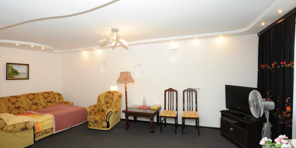 Квартира №14. Гостинная-спальня. Тип квартиры - ЛЮКС. Этаж 4