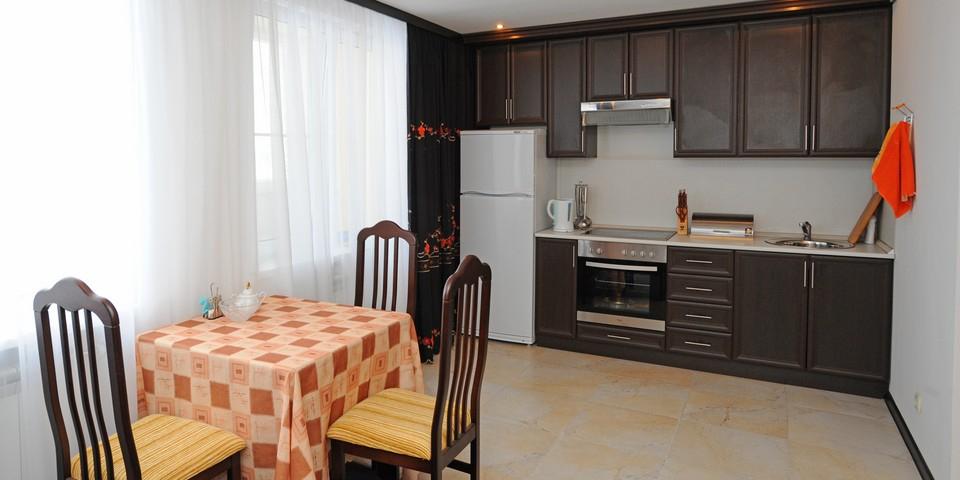 Квартира №14. Кухня. Тип квартиры - ЛЮКС. Этаж 4