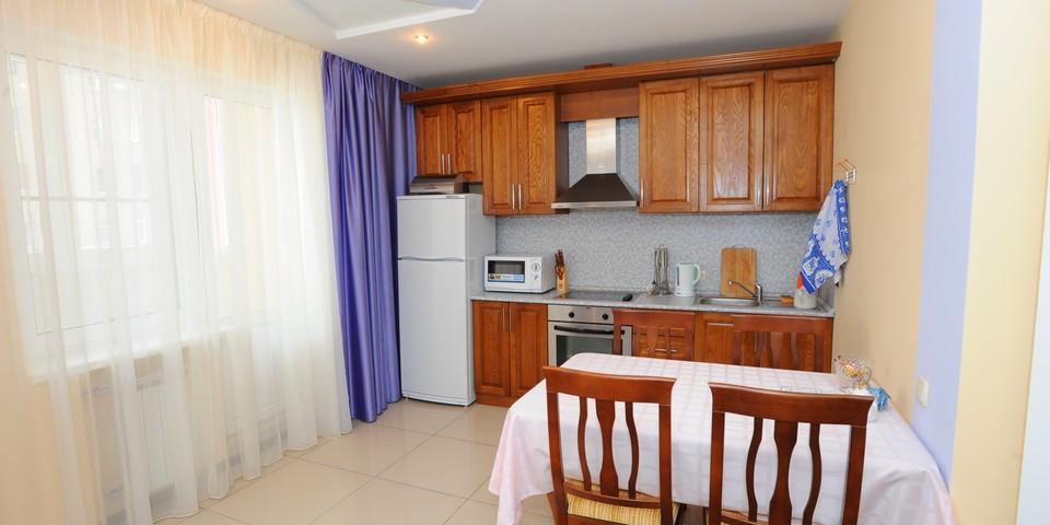 Квартира №4. Кухня. Тип квартиры - ЛЮКС. Этаж 1